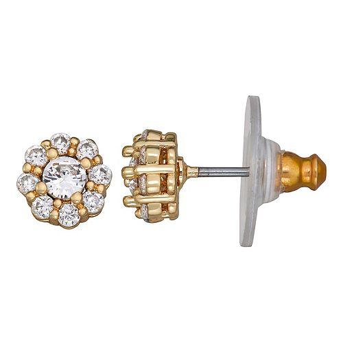 Napier Cubic Zirconia Crystal Stud Post Earrings