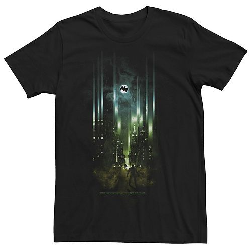Men's Batman Signal Gotham City Poster Tee