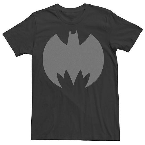 Men's Batman Grey Bat Logo Tee