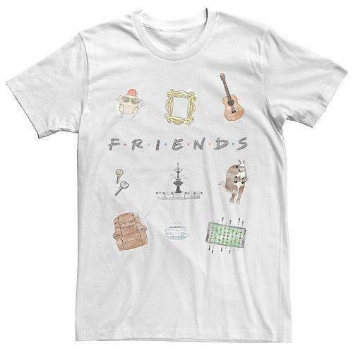 Men's Friends Symbol Collage Logo Tee