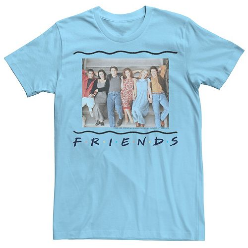 Men's Friends Staircase Portrait Logo Tee