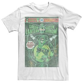 Men's Marvel Green Lantern And Green Arrow Faded Comic Book Cover Graphic Tee