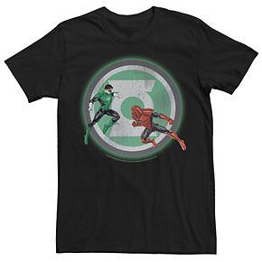 Men's Marvel Green Lantern Fighting Atrocitus Logo Graphic Tee