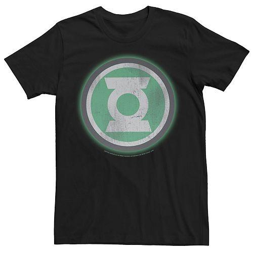 Men's Green Lantern Distressed Original Logo Tee