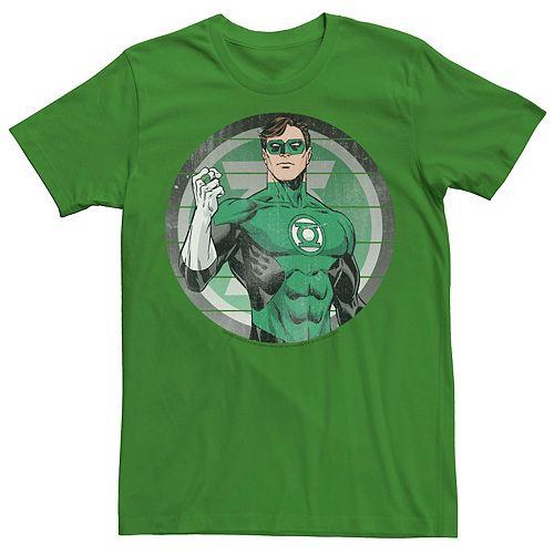 Men's Green Lantern Striped Logo Tee
