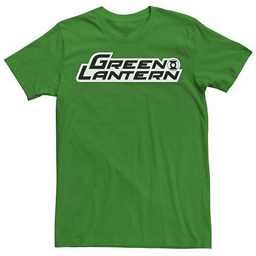 Men's Green Lantern Text Logo Tee