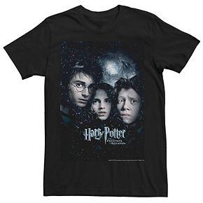Men's Harry Potter Prisoner Of Azkaban Group Movie Poster Graphic Tee
