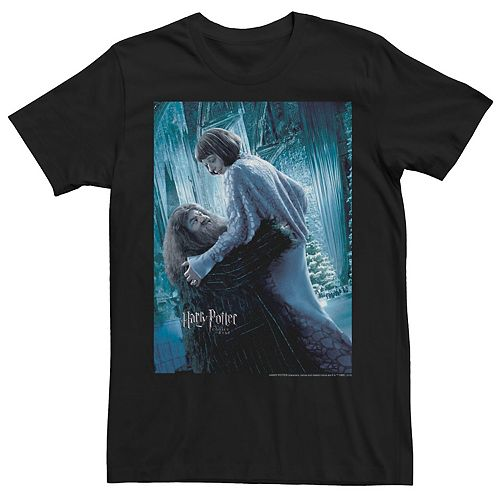 Men's Harry Potter Goblet Of Fire Hagrid & Madame Maxime Movie Poster Graphic Tee