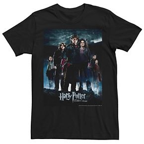 Men's Harry Potter Goblet Of Fire Group Movie Poster Graphic Tee