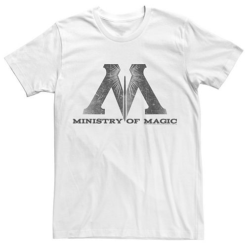 Men's Harry Potter Ministry Of Magic Distressed Logo Graphic Tee