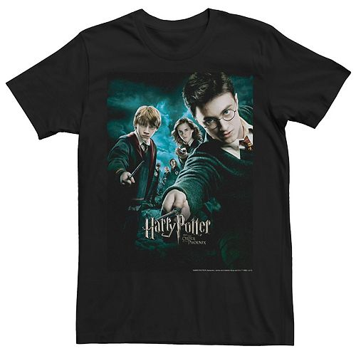 Men's Order of The Phoenix Wands Drawn Movie Poster Tee