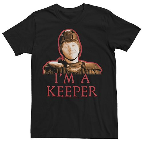 Men's Harry Potter Half-Blood Prince I'm A Keeper Portrait Graphic Tee