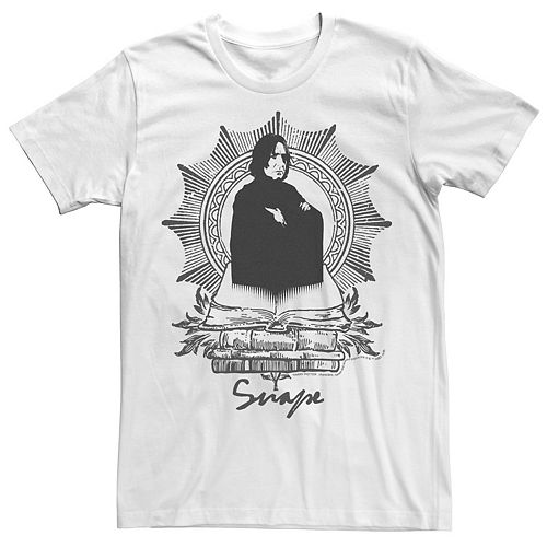 Men's Harry Potter Snape Book Stack Graphic Tee