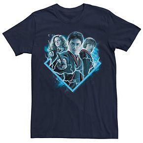 Men's Harry Potter Geometric Frame Trio Graphic Tee