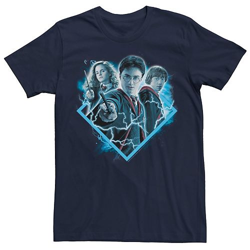 Men's Harry Potter Geometric Frame Trio Graphic Tee