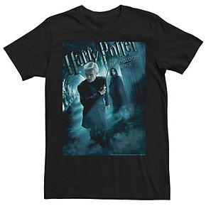 Men's Harry Potter Half-Blood Prince Draco And Snape Poster Graphic Tee