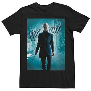 Men's Harry Potter Half-Blood Prince Draco Malfoy Poster Graphic Tee