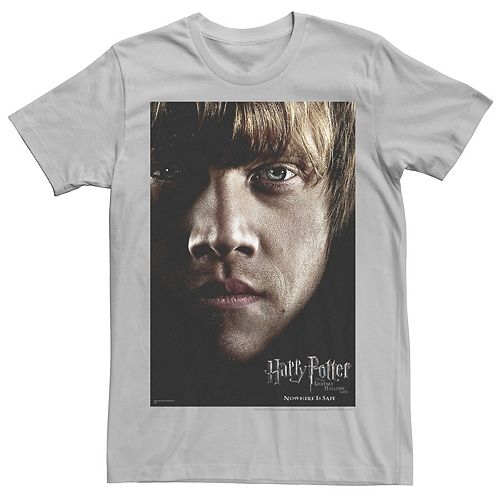 Men's Harry Potter Deathly Hallows Ron Weasley Poster Graphic Tee