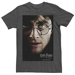 Men's Harry Potter Deathly Hallows Harry Potter Poster Graphic Tee