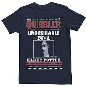 Men's Harry Potter The Quibbler Front page Newspaper Graphic Tee