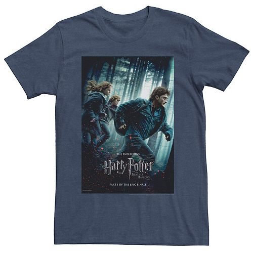 Men's Harry Potter Deathly Hallows Part One Trio Poster Graphic Tee
