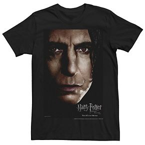 Men's Harry Potter Deathly Hallows Snape Poster Graphic Tee