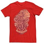 Men's Harry Potter Gryffindor House Crest Graphic Tee