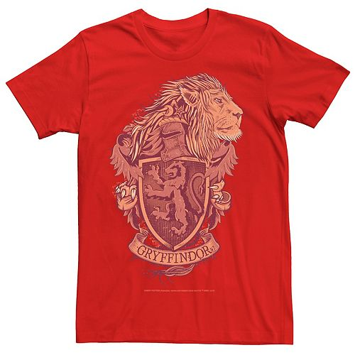 Men's Harry Potter Gryffindor House Crest Graphic Tee