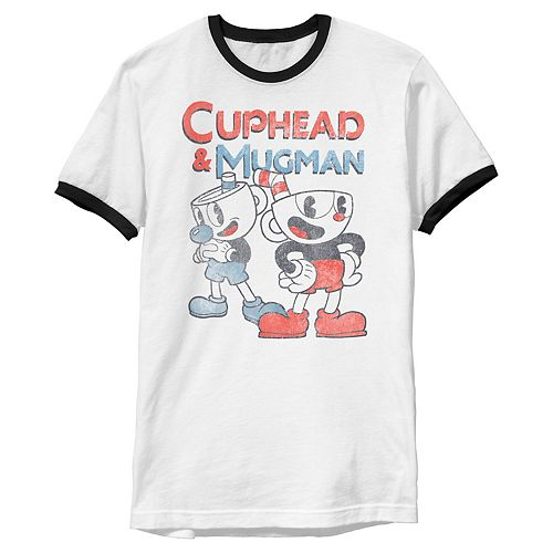 Men's Cuphead & Mugman Dynamic Duo Vintage Tee