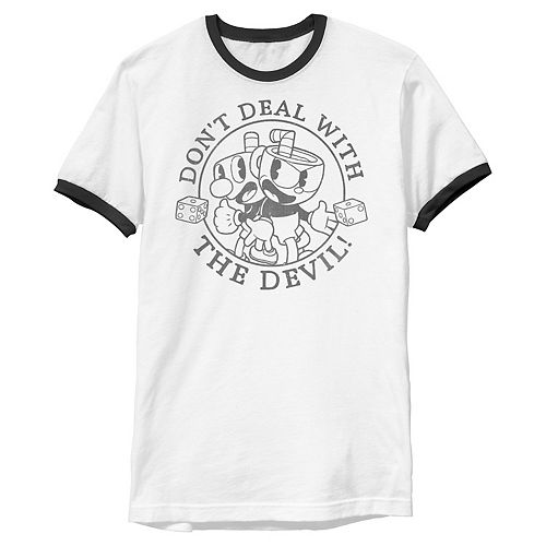 Men's Cuphead Don't Deal with The Devil Tee