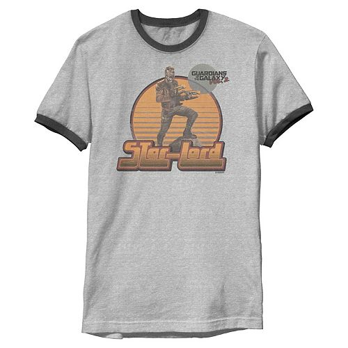 Men's Marvel Star-Lord Guardians of Galaxy 2 Pose Ringer Graphic Tee