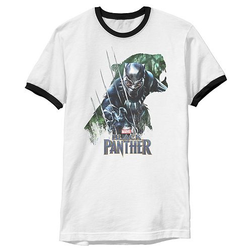 Men's Marvel Black Panther Movie Jungle Roar Clawed Ringer Graphic Tee
