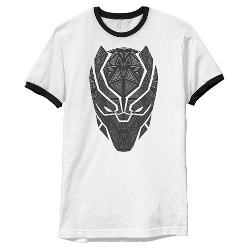 Men's Marvel Black Panther Prism Mask Ringer Tee