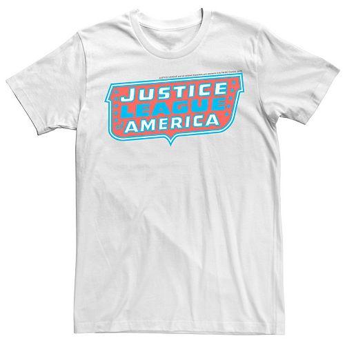 Men's Justice League Retro Logo Tee