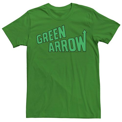 Men's Justice League Green Arrow Vintage Logo Tee