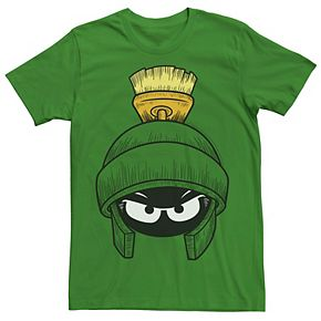 Men's Looney Tunes Marvin The Martian Face Graphic Tee