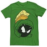 Men's Looney Tunes Marvin The Martian Attitude Head Shot Graphic Tee
