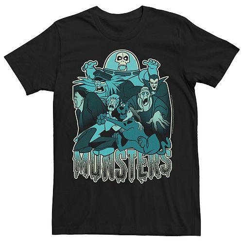 Men's Scooby Doo Blue Hue Monsters Portrait Graphic Tee