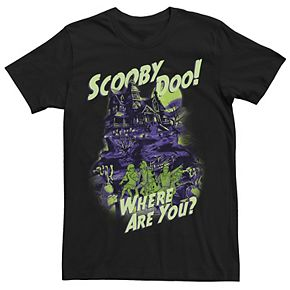 Men's Scooby Doo Where Are You? Spooky House Graphic Tee