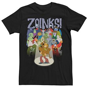 Men's Scooby Doo Shaggy And Scooby Zoinks! Portrait Graphic Tee