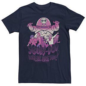 Men's Scooby Doo Purple Hue Group Portrait Graphic Tee
