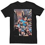 Men's DC Comics Superman Action Poster Graphic Tee