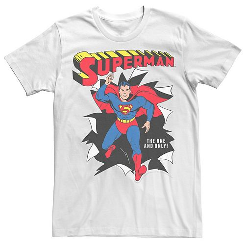 Men's DC Comics Superman The One And Only Vintage Portrait Graphic Tee