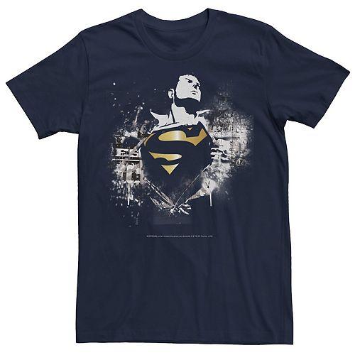 Men's DC Comics Superman Transformation Spray Paint Stencil Graphic Tee