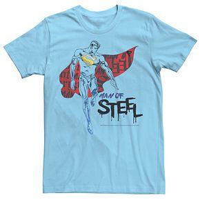 Men's DC Comics Superman Man Of Steel Grunge Portrait Graphic Tee
