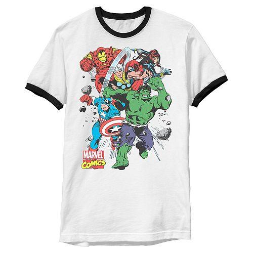 Men's Marvel Avengers Classic Starters Ringer Graphic Tee
