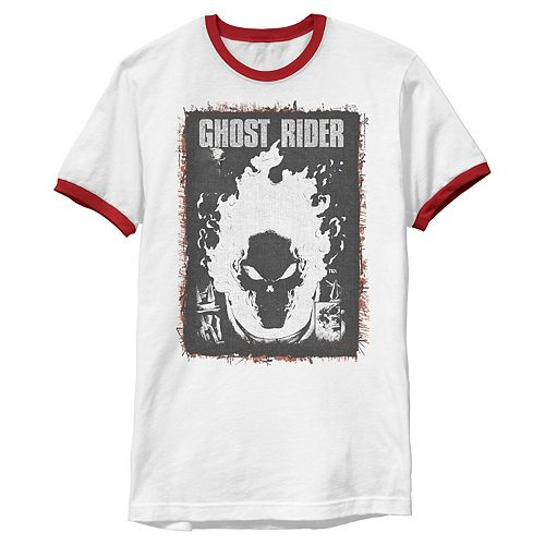 Men's Marvel Ghost Rider Dark Distressed Poster Tee
