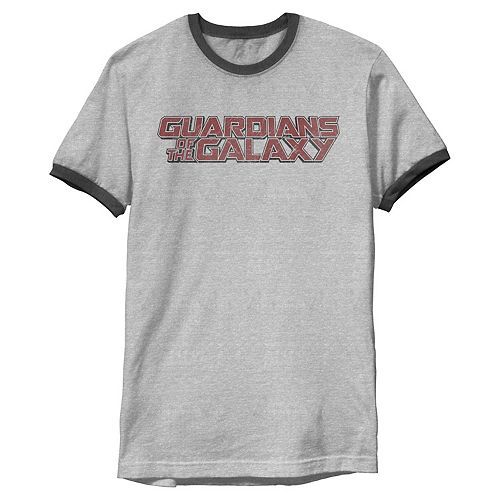 Men's Marvel Guardians of the Galaxy Classic Logo Ringer Graphic Tee