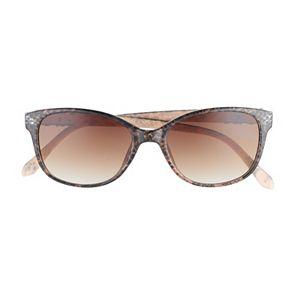 Women's Dana Buchman 54mm Jewelry Temple Cat Eye Gradient Sunglasses