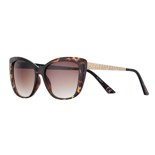 Women's Dana Buchman 55mm Crocodile Temple Large Cat Eye Gradient Sunglasses